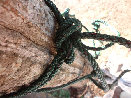 Rope tied green Stock Photo