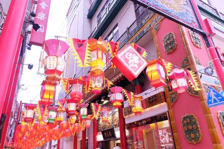 Nagasaki Chinatown 免版税图像