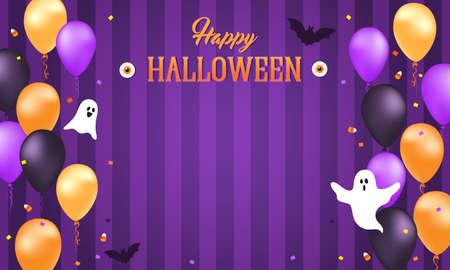 Happy Halloween banner 矢量图像