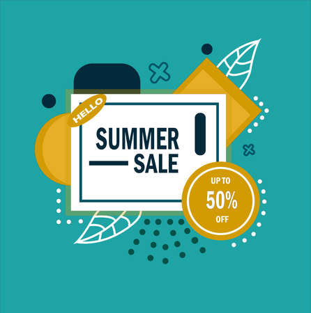 Banners sell discounts in the summer
