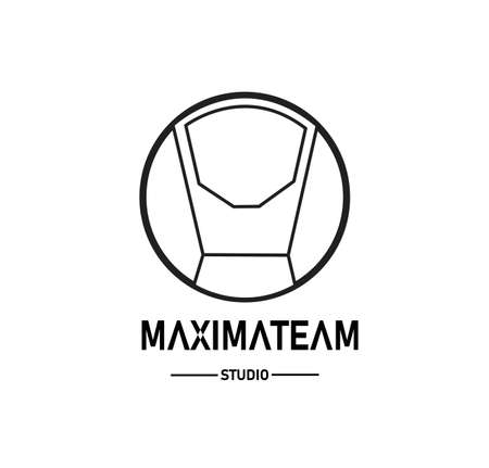 Logo studio, with concept robot