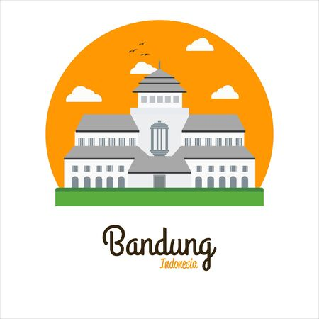 Gedung Sate Vector Illustration The Icon of Bandung West Java Indonesia Illustration