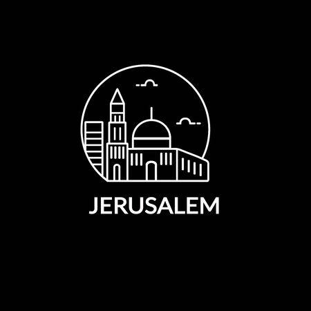 Vectors icon illustration of jerusalem