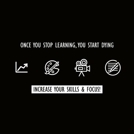 Learning and increase skill illustrations vectors