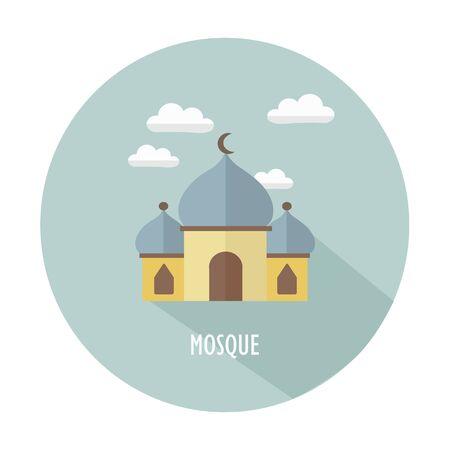 Simple Vectors Mosques illustrations icon Vetores