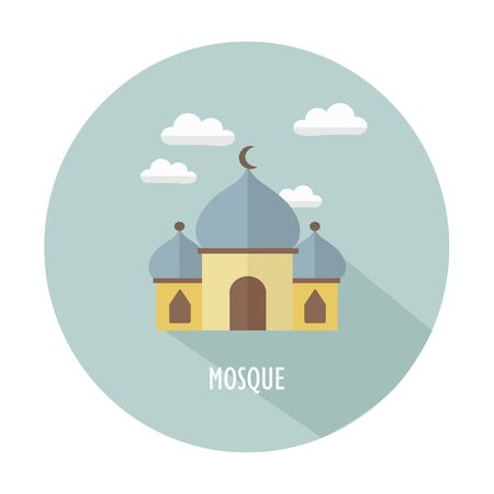 Simple Vectors Mosques illustrations icon