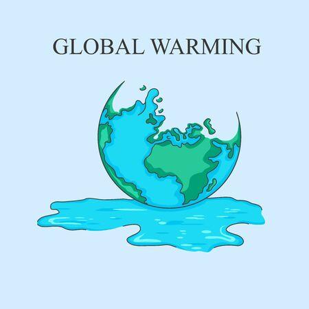 Global warming vectors illustrations