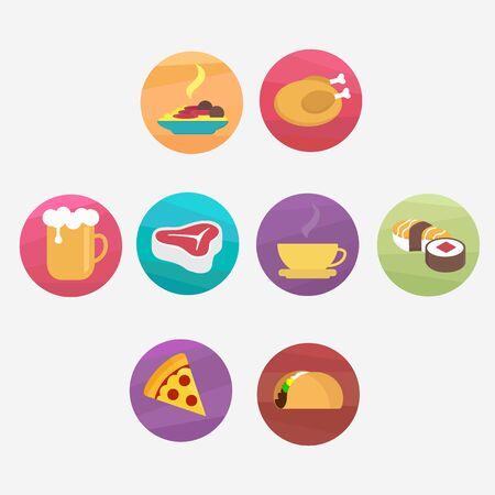 Logo pack vectors of foods illustration