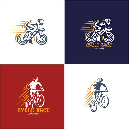 Logo pack vectors of cycling