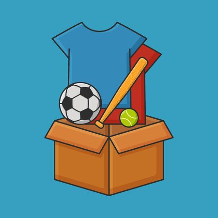 Donation Of Goods Vector Concept. Box Package Icon Illustration
