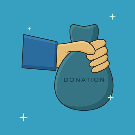 Donation And Charity Vector. Hand Concept Icon Illustration