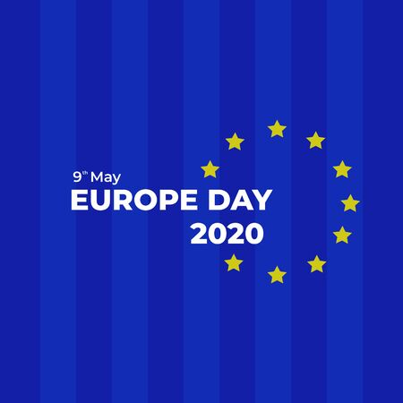 Europe Day 2020 Celebration. Vector Background Illustration