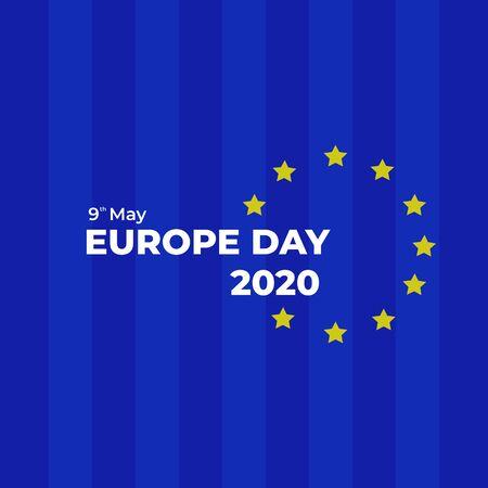 Europe Day 2020 Celebration. Vector Background Illustration