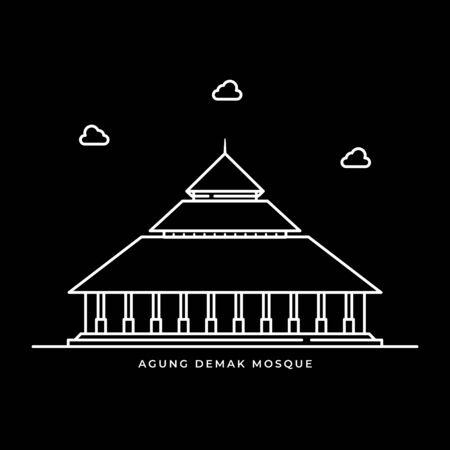 Agung Demak Mosque Icon Muslims Religion in Java Island Indonesia