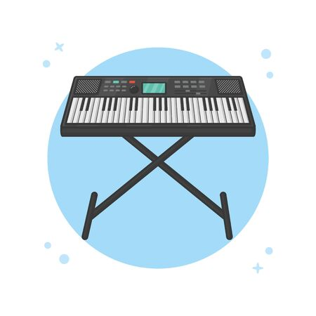 Piano Keyboard. Modern Pianist. Music Instrument Logo Vector Illustration Illustration