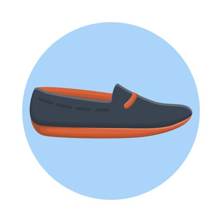 Simple Footwear Casual Fashion. Flat Icon Vector Design