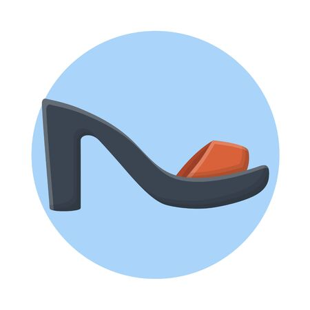 Womens Sandals Fashion Footwear. Flat Icon Vector Design
