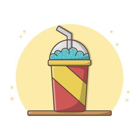 Juice Fresh Icon Design Vector
