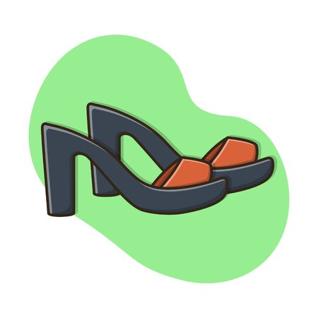 Sandals Women Icon Vector Design Illustration