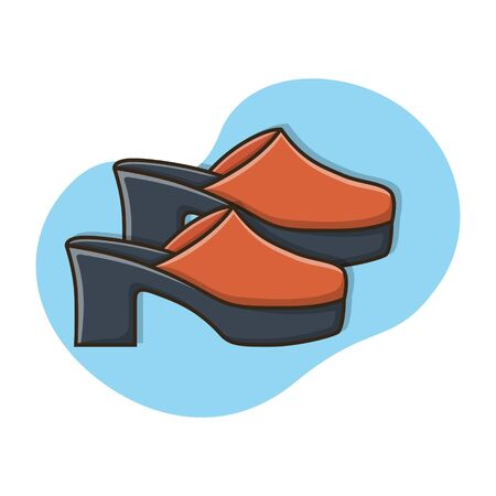 Womens Footwear Sandal Icon Vector Design Illustration