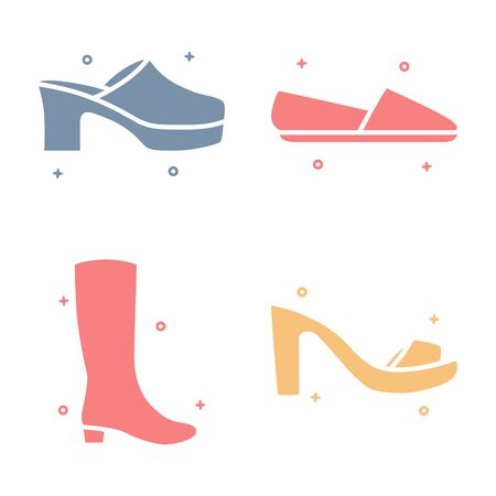 Female Footwear Shoes Fashion Vector Icon