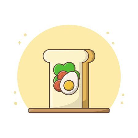 Healthy Breakfast Design Vector Conceptual Ilustracja