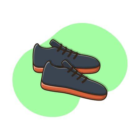 Sport Footwear Shoes Vector Design Illustration