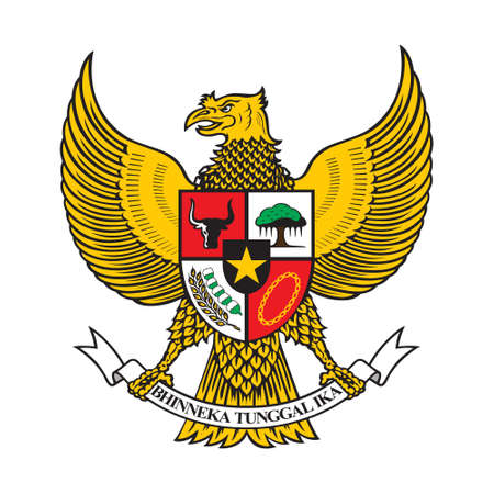 Gesture Hand Patriotism and Freedom. Independence Day Indonesia Concept. Nationalism Indonesian Symbol Vector 일러스트