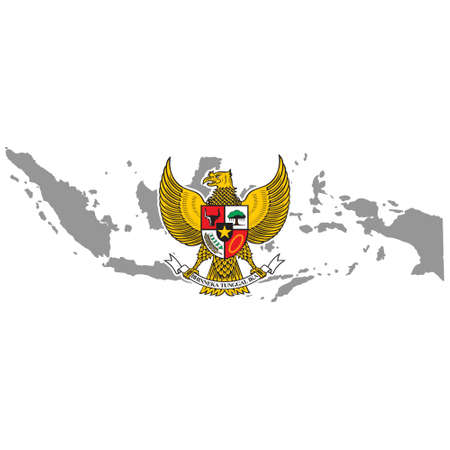 Gesture Hand Patriotism and Freedom. Independence Day Indonesia Concept. Nationalism Indonesian Symbol Vector