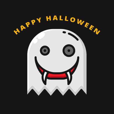 Devil Halloween Icon Filled Line Style. Ghost Monster Vector Logo Illustration. Halloween Horror Symbol Icon Halloween Celebration