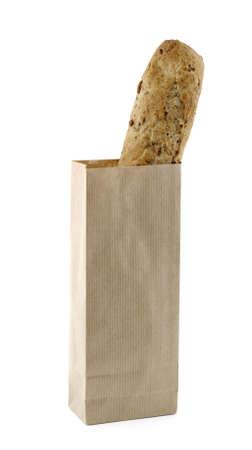 papel reciclado: Papel reciclado bolsa de pan con semillas