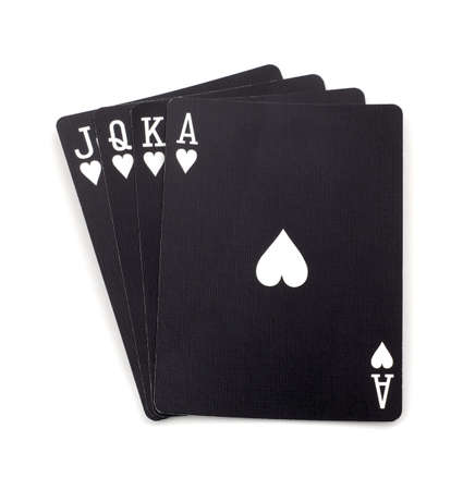 king and queen of hearts: Poker black cards