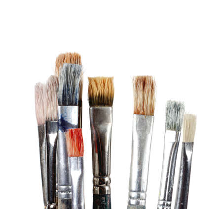 fine tip: Foreground brush used with different shapes and colors Stock Photo