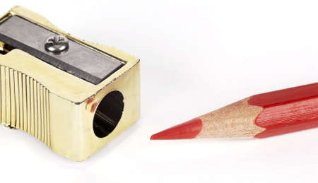 compared: Compared with red pencil sharpener
