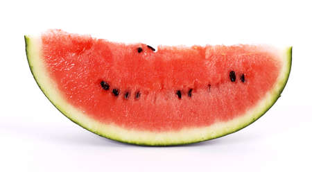 Cut red and mouthwatering watermelon photo