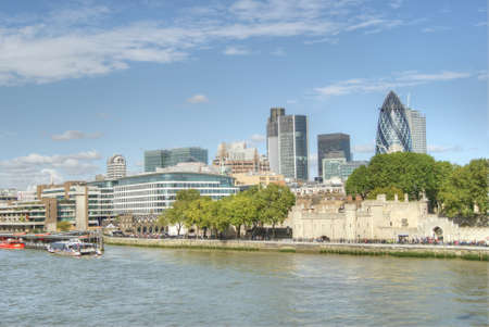 moderm: A view of the City of London from Tower Bridge Stock Photo