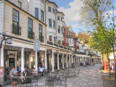 uk: The Pantiles, Tunbridge Wells,Kent, England,UK