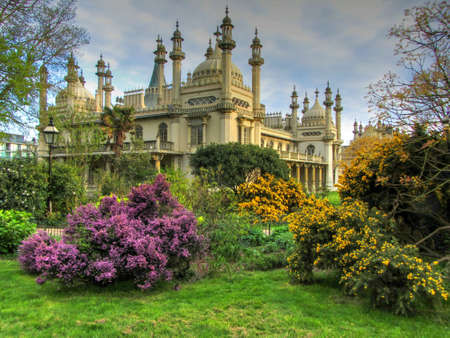 brighton: The Royal Pavilion and Gardens, Brighton, East Sussex, England,UK Stock Photo