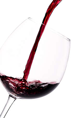 red wine Spanish on white background photo