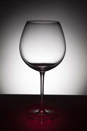sleek: Wine glass on black and white background