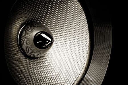 Audio speaker close-up studio shot with detailed texture  Internal part Stock Photo - 18465190