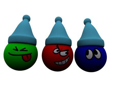 Little  mark Christmas. 3d render. photo