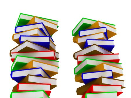 3d render of Pile of books. Education concept. Stock Photo - 4703718
