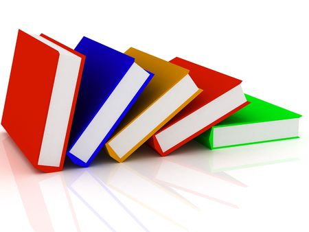 3d render of Pile of books. Education concept.