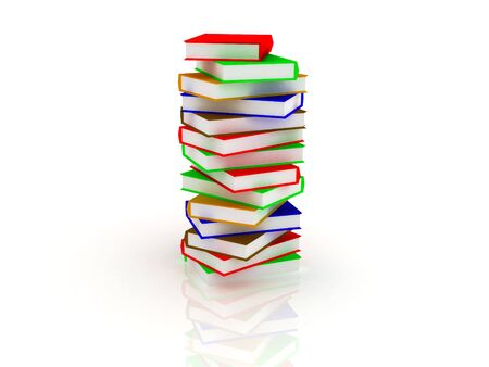 3d render of Pile of books. Education concept. Stock Photo - 4703726