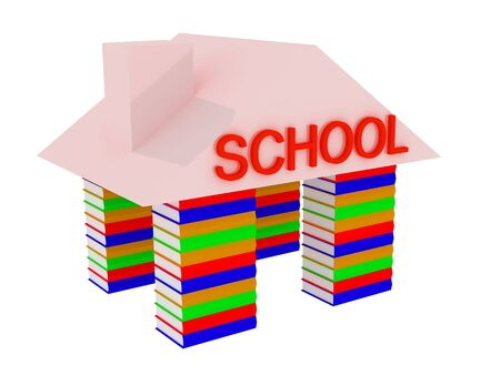 3d render of Pile of books. Education concept. Stock Photo - 4703727