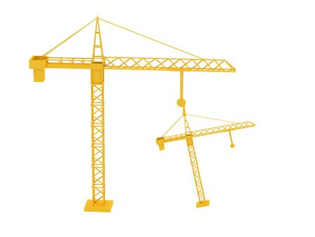 3d render of crane. Isolated on white background photo