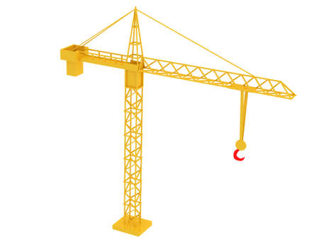 3d render of crane. Isolated on white background. photo
