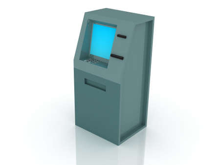 checking account: 3d render of atm machine. Finance concept.