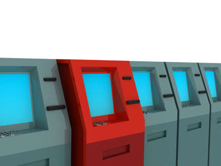 3d render of atm machines. Finance concept. Stock Photo - 4794719